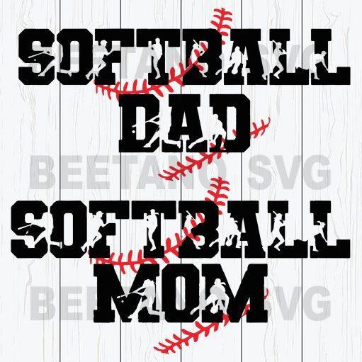 Softball Dad Softball Mom Svg Files, Sport Svg, Softball Svg, Softball Svg Files