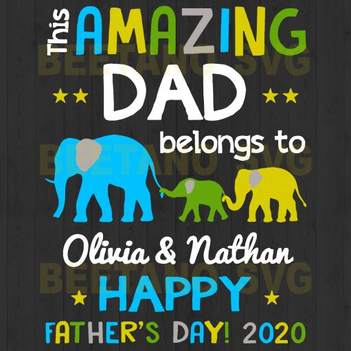 This Amazing Dad Belongs To Happy Father's Day Svg Files For Instant Download