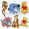 Winnie-the-Pooh character bundle Cutting Files For Cricut, SVG, DXF, EPS, PNG Instant Download