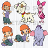 Winnie-the-Pooh bundle Files For Cricut, SVG, DXF, EPS, PNG Instant Download