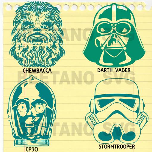 Star war Bundle Svg Files, Star war Character Svg Files, Star war Bundle, Star war Cutting Files For Cricut, SVG, DXF, EPS, PNG Instant Download