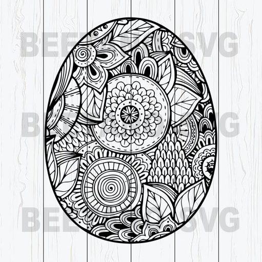 Mandala Easter Egg Svg, Mandala Egg Svg, Easter Egg Svg Files, Happy Easter Svg Files