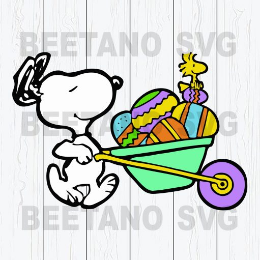 Snoopy Charlie Brown Easter Egg SVG, Peanuts Easter SVG, Happy Easter Svg Files