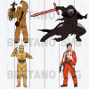 Star wars character Cutting Files For Cricut, SVG, DXF, EPS, PNG Instant Download