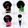 Afro woman black girl svg