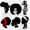 Afro black women svg files
