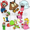 Super Mario Svg Bundle, Super Mario Svg, Super Mario Cutting Files For Cricut, SVG, DXF, EPS, PNG Instant Download