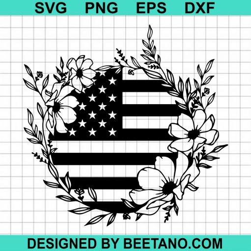 American Flag Flower Wreath