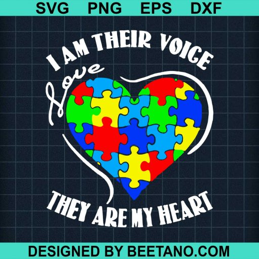 Autism Awareness I Am Their Voice Love They Are My Heart 2020