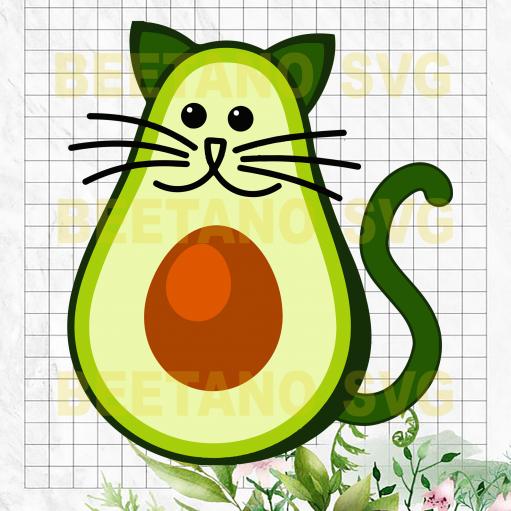 Avocado Cat Svg Files
