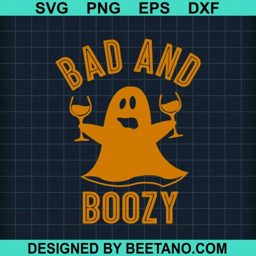 Bad And Boozy Ghost Drinks Wine