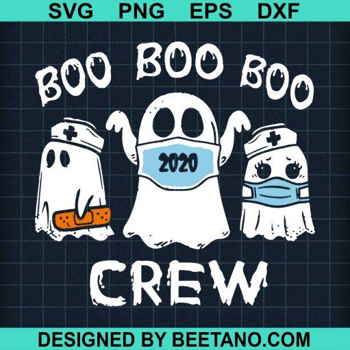 Boo Boo Boo Crew Funny Nurse Halloween Ghost Cute