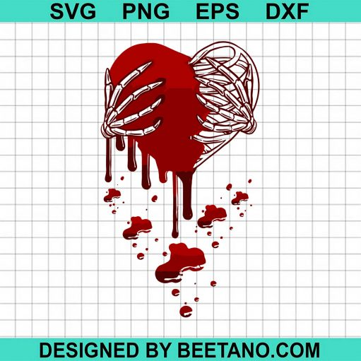 Crazy Love Hurt Broken Heart Pain Skeleton Bloody Valentine
