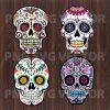 Mandala Sugar skull bundle svg, mandala sugar skull clipart, sugar skull file for cricut, sugar skull bundle svg, sugar skull cutting file