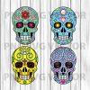 Sugar skull svg, sugar skull clipart, sugar skull file for cricut, sugar skull bundle svg, sugar skull cutting file