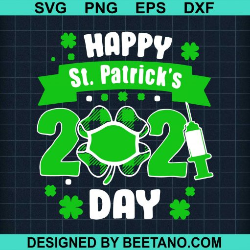 Happy St Patricks Day 2021 Face Mask With Covid