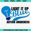 Light It Up Blue Puzzle Piece Autism Awareness
