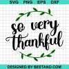 So Very Thanksful
