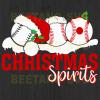 Sport Ball Christmas Spirit Svg, Christmas Ball Svg, Softball Svg, Sport Ball Cutting Files For Cricut, SVG, DXF, EPS, PNG Instant Download