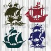 Pirate ship svg, pirate ship clipart, pirate ship cutting file, boat svg, boat clipart, pirate ship file for cricut, pirate ship vector