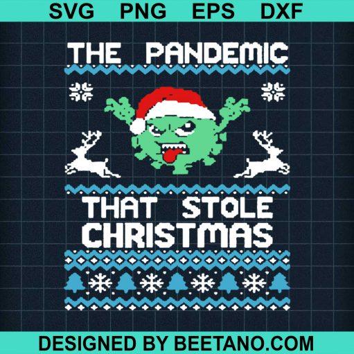 The Pandemic That Stole Christmas Corona Virus Wear Santa Hat Sweat 2020