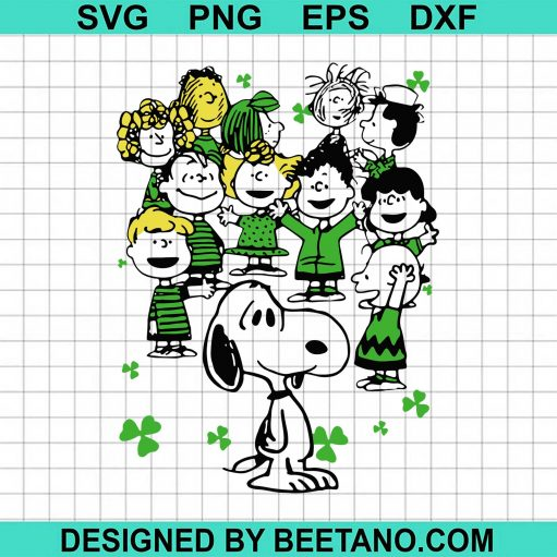 The Peanuts characters happy St Patricks Day