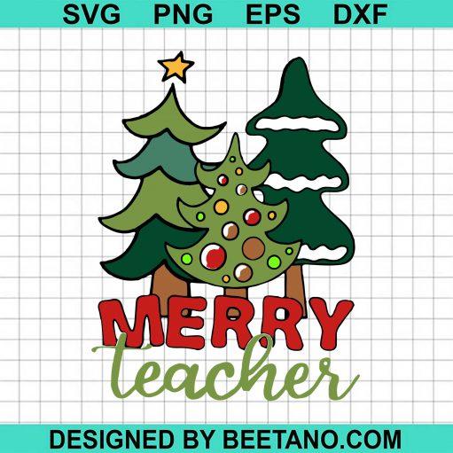 Tree Pine Merry Teacher Christmas Sweater