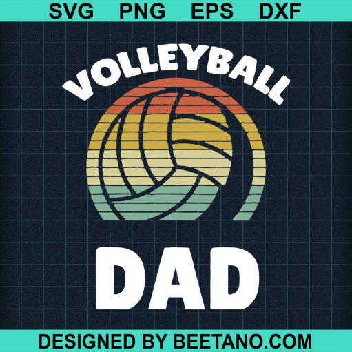 Volleyball Vintage I Dad Father Support Teamplayer