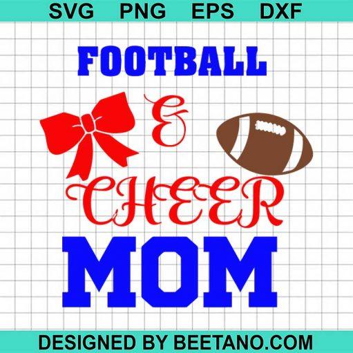 Football cheer mom svg