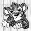 Mandala lion king svg