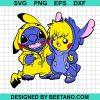 Pikachu and stitch svg