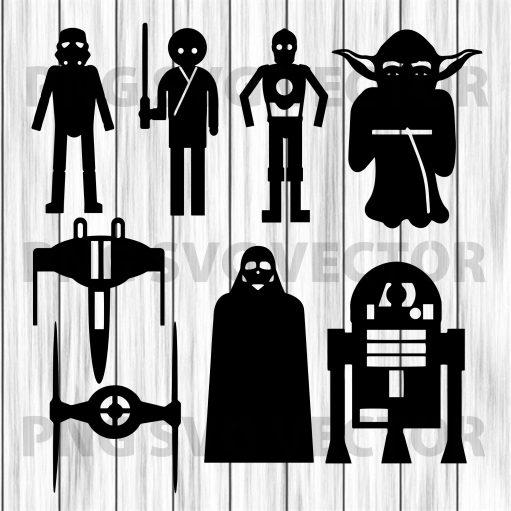 Star war bundle svg, star war bundle svg, star war clipart, star war file for cricut, star war bundle cutting file, star war character svg